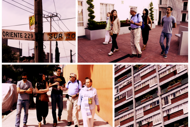 The team's tour of housing typology in Mexico City