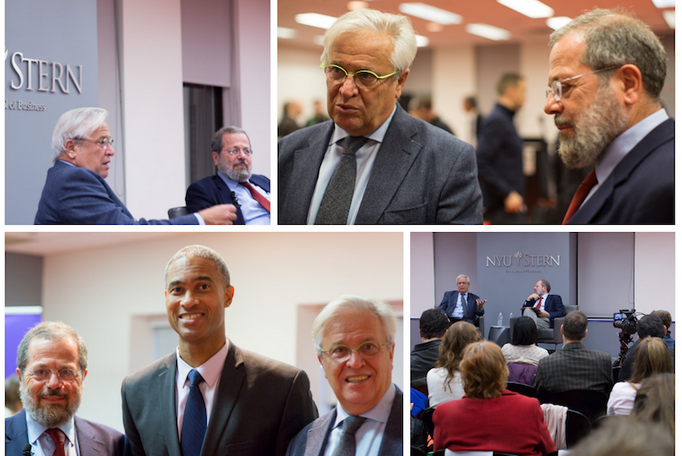 Images from the December 9, 2013 discussion of the Global Urban Agenda. Pictured in the lower left (from left to right): Solly Angel, Dean Peter Henry, and Dr. Joan Clos.