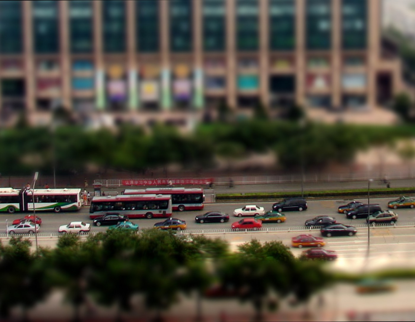 Perspective View of Driverless Cars in Beijing